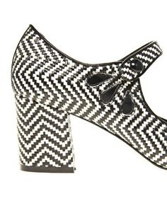 ASOS SHOCK Mary Jane Heels with Weave Detail--KILLING ME!!!!  LOOK AT THOSE TEAR DROP CUTOUTS!