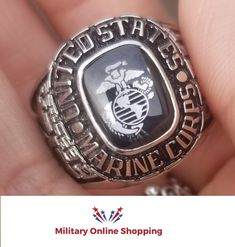 This Marine Corps Ring can be personalized on both sides, with a name, rank or date. You can select emblems that will reflect your service.