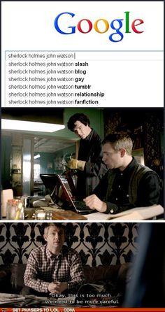 I love how the whole fandom is basically shipping John and Sherlock! <3