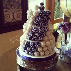 Cake Ball Cake...maybe something for a bridal shower