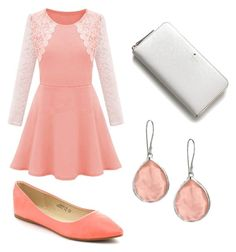 """""""Peachy Keen"""" by laurenvhyde ❤ liked on Polyvore featuring Bella Marie, Kate Spade and Ippolita"""