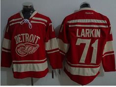Red Wings #71 Dylan Larkin Red 2014 Winter Classic Stitched NHL Jersey