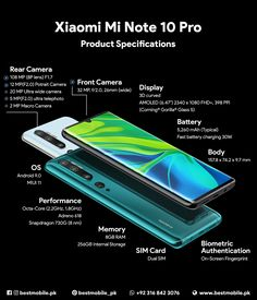 Xiaomi MI Note 10 Pro Android Pie smartphone in Pakistan. Features LTE, inches AMOLED capacitive touchscreen, Five camera 108 MP and Fingerprint under display. Latest Cell Phones, Latest Smartphones, Mobile Phone Price, Best Mobile Phone, Technology Gadgets, Tech Gadgets, Android Phone Wallpaper, Smartphone Reviews, Book Festival