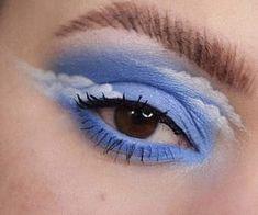 Image of art, blue, and eyeshadow - Makeup Products Lipstick Makeup Eye Looks, Eye Makeup Art, Crazy Makeup, Cute Makeup, Pretty Makeup, Skin Makeup, Eyeshadow Makeup, Make Up Designs, Eye Makeup Designs