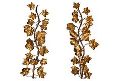 SOLD Italian Gilt Tole Wall Sconces from Nomadic Vintage on OneKingsLane.com