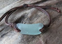 Scottish Sea Glass Surfers Bracelet Seaglass by byNaturesDesign