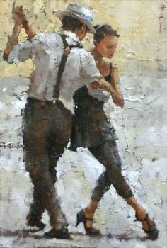 Andre kohn painting - 25 Drawings which can be confused with photos – Andre kohn painting Painting People, Drawing People, Figure Painting, Painting & Drawing, Diy Painting, Watercolor Painting, Arte Latina, Tango Art, Dance Paintings