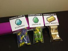 Minecraft Birthday Gold Diamond and Emeralds GDE by EpicEvent, $15.00
