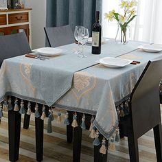 European-style Living Room Restaurant Table Linen,Tablecloth Tablecloth Square Coffee Table Tablecloth-A 60x60cm(24x24inch)