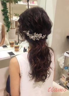 黒髪美人な花嫁さまの柔らかアレンジ3スタイル♡リハ篇   大人可愛いブライダルヘアメイク 『tiamo』 の結婚カタログ