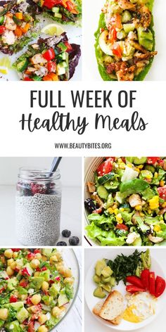 Week Of Healthy Meals, Healthy Weekly Meal Plan, Healthy Eating Meal Plan, Easy Healthy Meal Prep, Healthy Menu, Meals For The Week, Healthy Cooking, Meal Plan For Week, Healthy Meal Planning
