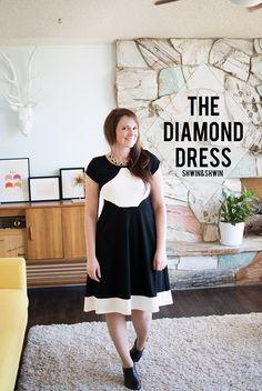 The Diamond Dress From Pattern Anthology Unbiased Collection || Shwin&Shwin