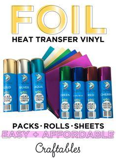 Foil iron-on vinyl