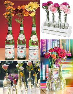 » Decoração barata: Flores na garrafa - Só Para Meninas | blog feminino por Rafaelli Antes