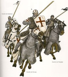 Calatrava Knight, Templar knight and Hospitalarian knight of the kingdom of Aragon