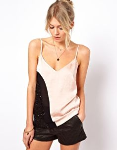 Enlarge ASOS Cami in Colour Block and Sequin Panels