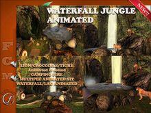 Waterfall jungle, animated,animals,camping Copy Modify