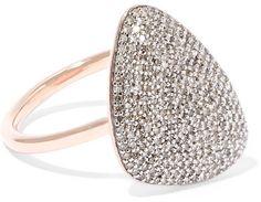 Monica Vinader - Nura Rose Gold Vermeil Diamond Ring