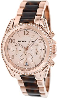 Gold watches for women Michael Kors. Michael Kors gold watches women Tortoise Chronograph Women's Watch
