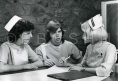 Nursing instructor with Lankenau students, 1977. Image courtesy of the Barbara Bates Center for the Study of the History of Nursing.