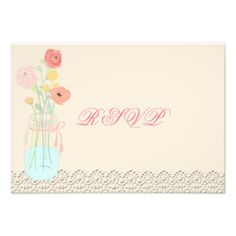 Rustic Posh in Coral RSVP