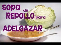 Cómo hacer la sopa de repollo para adelgazar con la dieta rápida de una semana - YouTube
