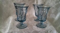 Jamestown-Fostoria-Blue-Juice-Glasses