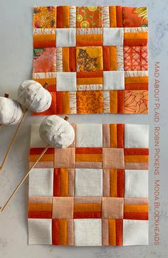 Moda Block Heads 3 - Block 39 Mad About Plaid 4'', 6'', 8'' & 12'' Pattern Blocks, Quilt Patterns, Block Patterns, Stationery Companies, Block Head, Plaid Quilt, Fall Quilts, New Tricks, Scrappy Quilts