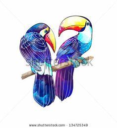 brazil bird outline | Toucan Stock Photos, Toucan Stock Photography, Toucan Stock Images ...