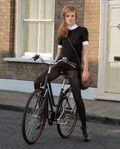 bicycle, prep, retro hair...PERFECTION!