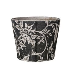 Rania+Flower+Pot,+Black/White,+Lene+Bjerre