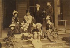 Grant with his physician, and family 3 days before his death. Although in great pain, this hero  provided for his family's financial future by finishing his memoirs just days before his passing.