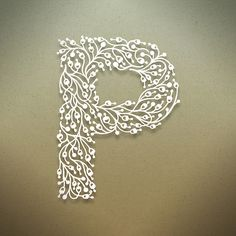 P. Beautiful botanical alphabet By Benjie Moss