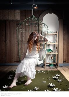 I want a bird cage swing/chair!