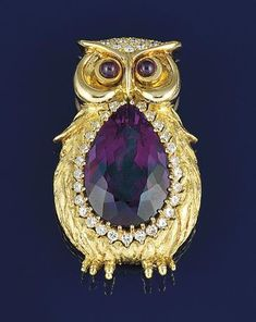 An amethyst and diamond novelty brooch, by Kutchinsky – Kutchinsky