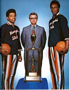 be4c428da 1973 Larry Finch, Gene Bartow, and Ronnie Robinson Memphis Basketball,  College Basketball,