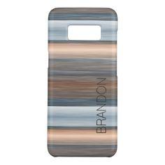 Custom Stylish Modern Watercolor Stripes Pattern Case-Mate Samsung Galaxy S8 Case - elegant gifts gift ideas custom presents