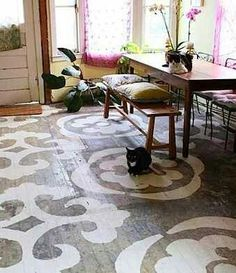 Great patio looking floor. Would work with an open loft area cafe