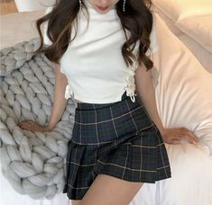 Look at this Cool korean fashion trends Colorful Fashion, Cute Fashion, Skirt Fashion, Fashion Outfits, Womens Fashion, Korean Fashion Trends, Asian Fashion, Skirt Outfits, Cool Outfits
