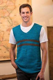 """Ivy League Vest by Marlaina """"Marly"""" Bird  Published in  Love of Knitting, Spring 2014  Knit in our Lhasa Wilderness yak & bamboo blend yarn!"""