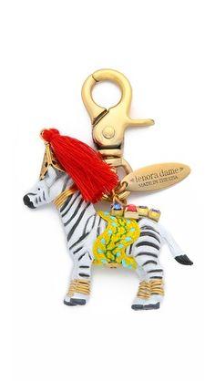 Lenora Dame cute Zebra Bag Charm keychain