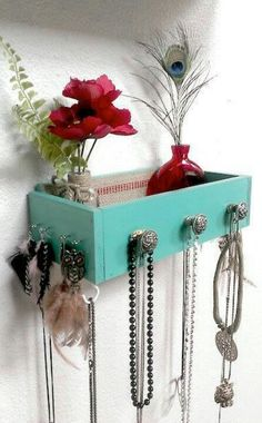 Small drawwr used as shelf and place for small items/ keys