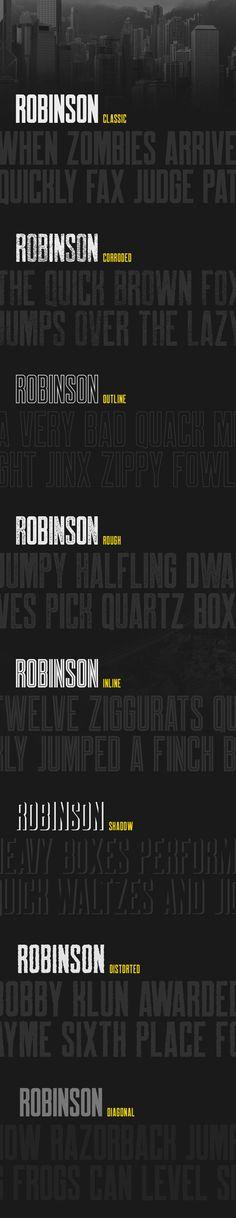 Robinson - Free Font by Mehmet Reha Tugcu #font #freebie