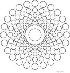 Free Printable Mandala Design Coloring Pages - Bing ResimlerMandala of circles - 15 degree rotational symmetryCircles - use to countdown days for school breaks? Dot Art Painting, Rock Painting Designs, Mandala Painting, Mandala Art, Stone Painting, Geometric Mandala, Mandalas Drawing, Mandala Coloring Pages, Free Coloring Pages