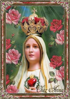 Foto animada Jesus Mother, Blessed Mother Mary, Blessed Virgin Mary, Religious Images, Religious Icons, Religious Art, Mother Mary Images, Images Of Mary, Madonna