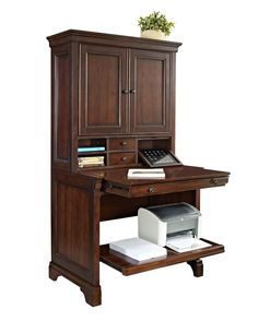 Amazon.com: E Ready Granville Armoire Desk With Hutch: Kitchen U0026 Dining