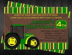 Everybody LOVES the BIG GREEN Tractor John Deere Theme invite