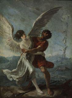 Johann Heinrich Schönfeld (Biberach an der Riss 1609 – 1682/1683 Augsburg) - Jákob harca az angyallal. Szépművészeti Múzeum