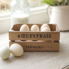 Rustic wooden egg holder
