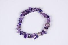 GENUINE AMETHYST SINGLE Chip Bracelet  #Bracelets See more! https://lalamotifs.com/product/genuine-amethyst-single-chip-bracelet/